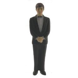 Groomsmen (Caucasian) Black Suit