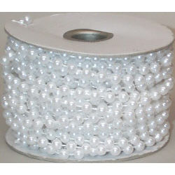 6 mm White Beads/Pearls on Roll