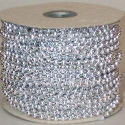 4 mm Silver Beads/Pearls on Roll