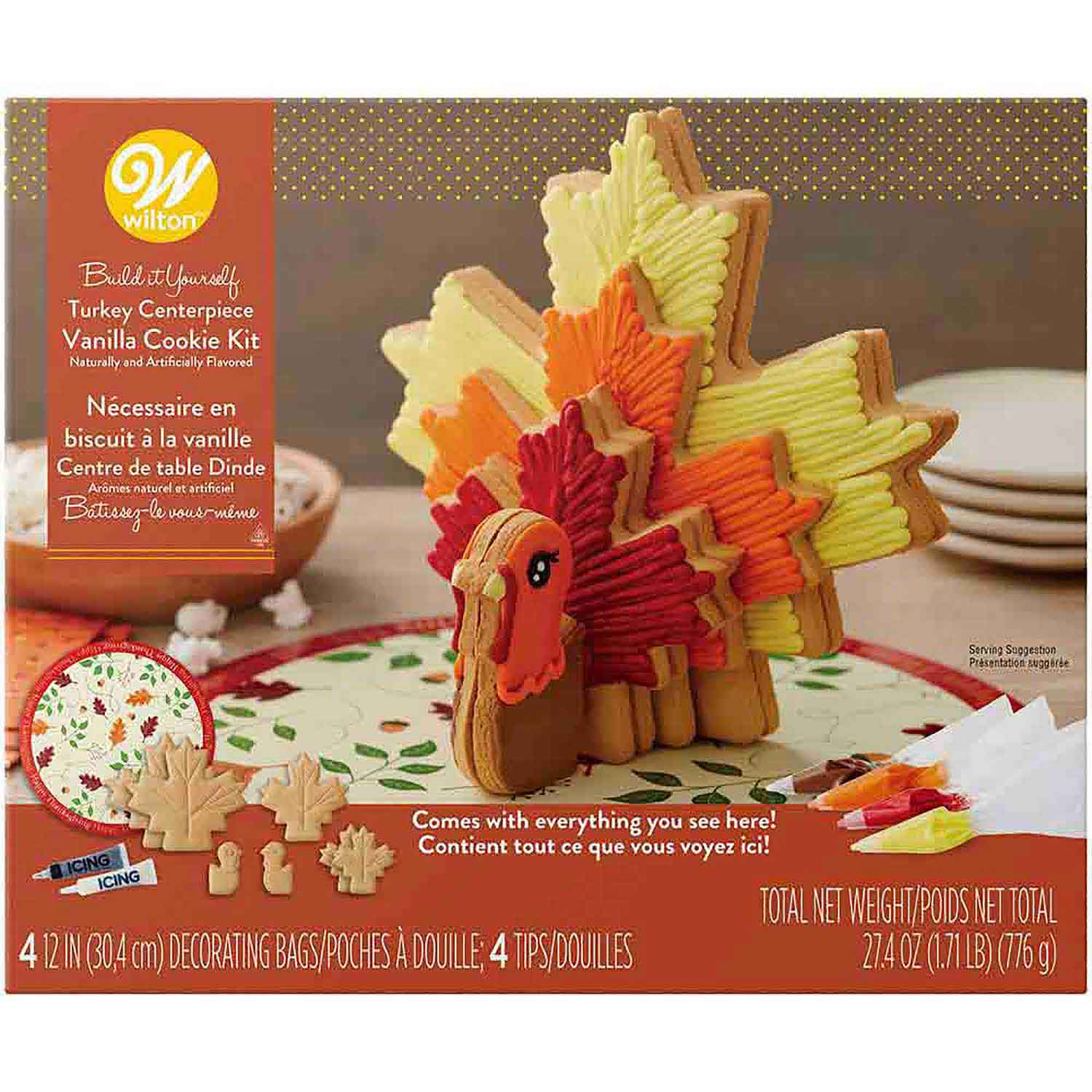 Turkey Centerpiece Vanilla Cookie Kit