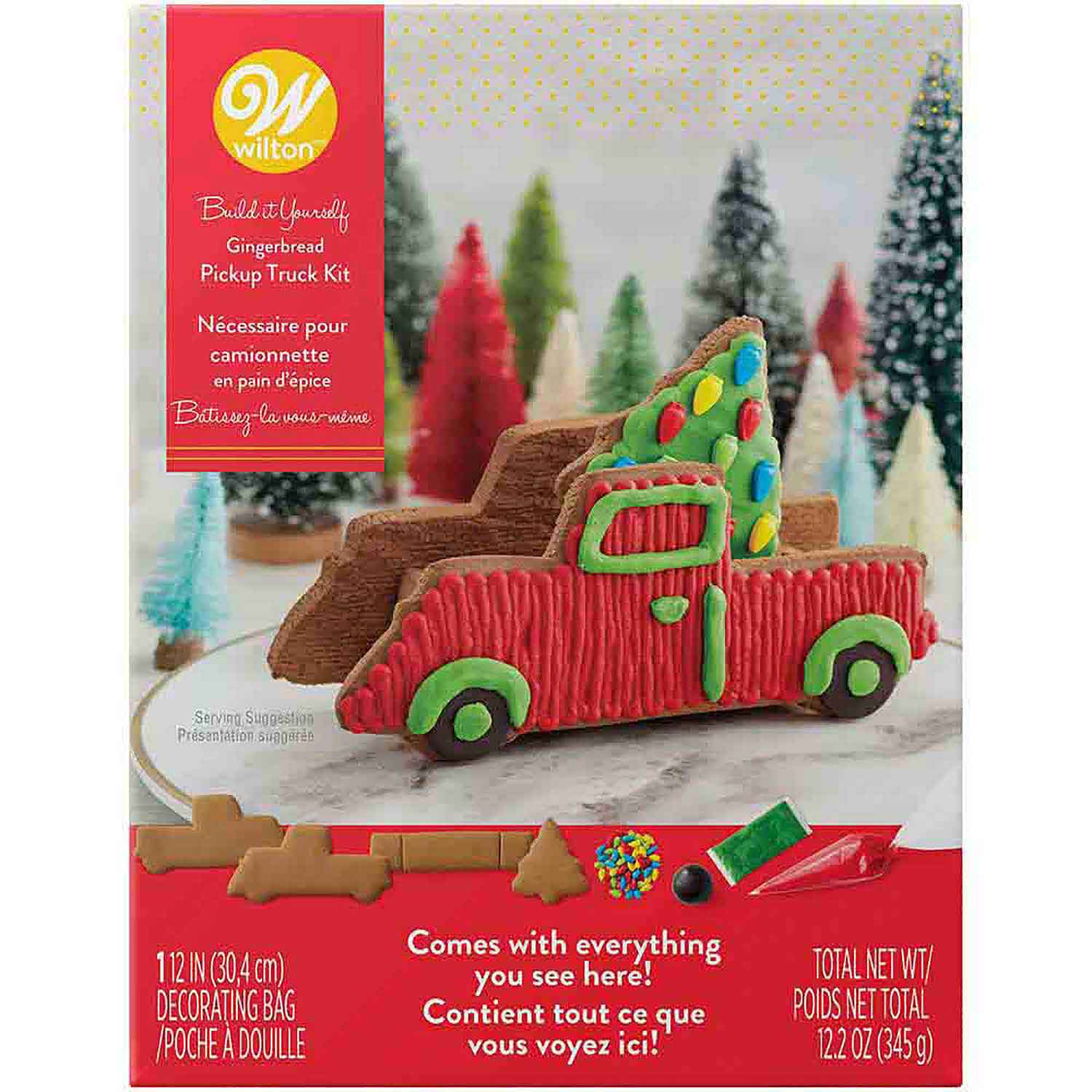 Gingerbread Pickup Truck with Tree Kit