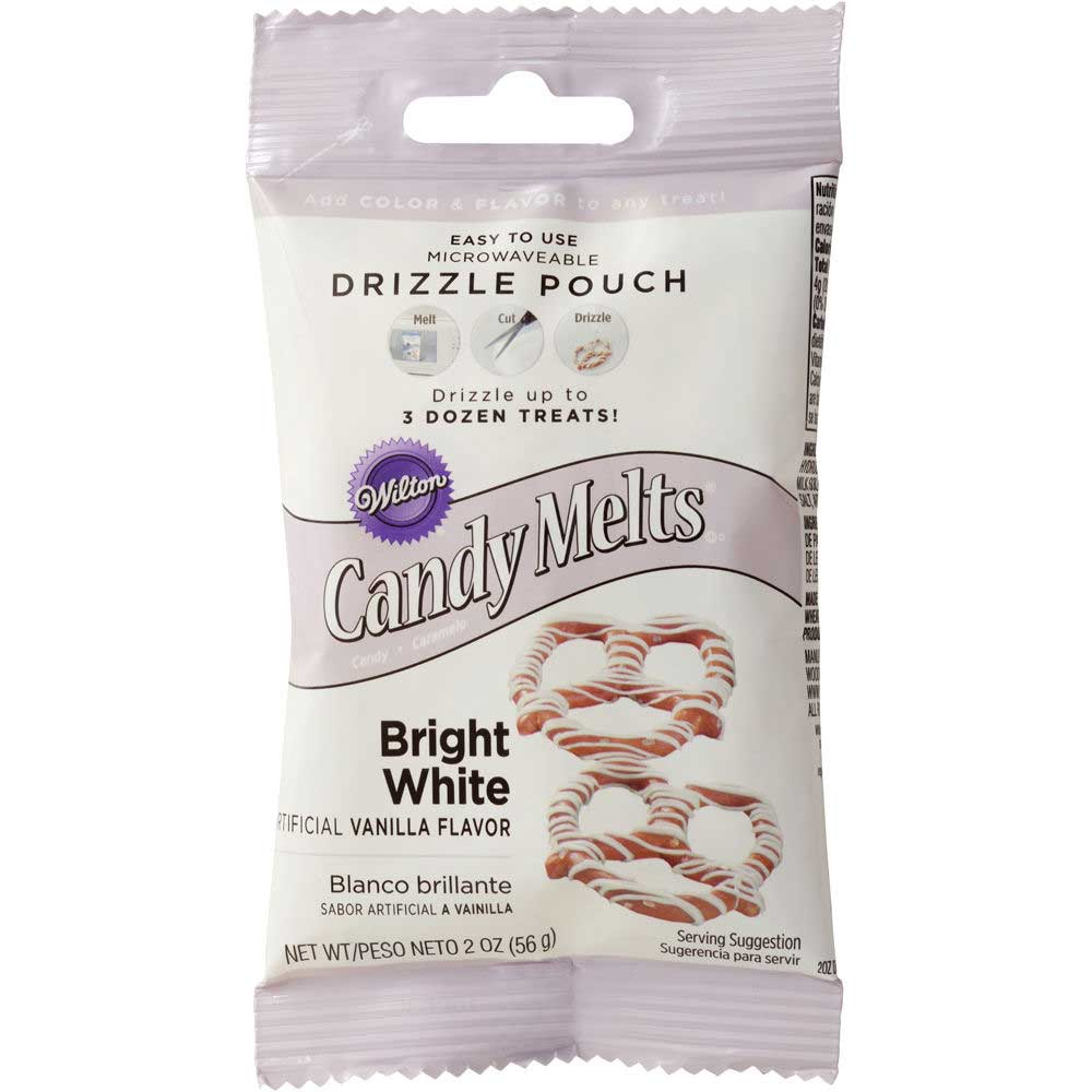 Bright White Candy Coating Drizzle Pouch
