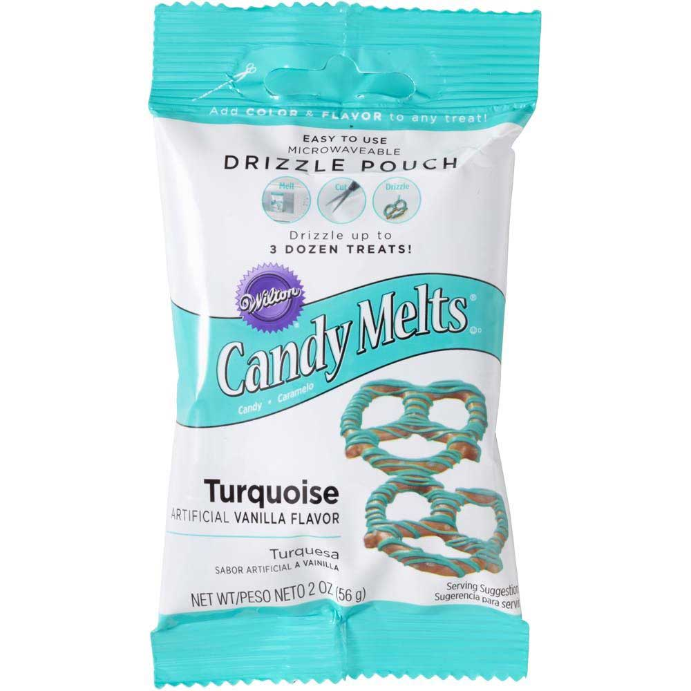 Turquoise Candy Coating Drizzle Pouch
