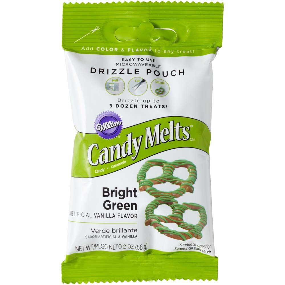 Bright Green Candy Coating Drizzle Pouch