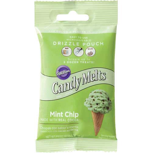Mint Chip Candy Coating Drizzle Pouch