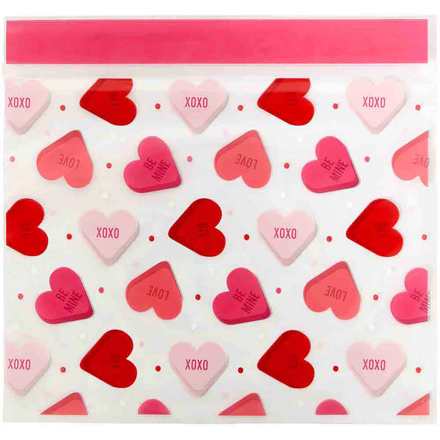 Scattered Hearts Treat Bags