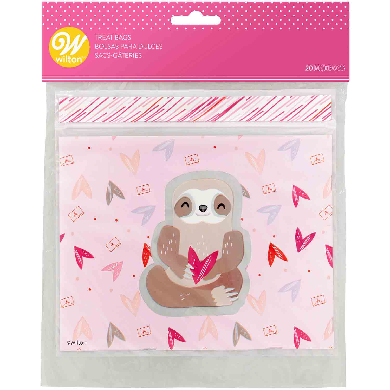 Valentine Sloth Treat Bags