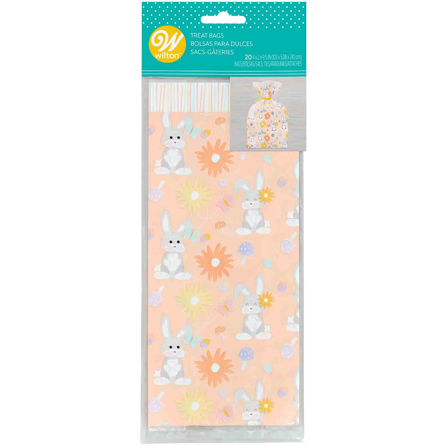 Floral Bunny Treat Bags