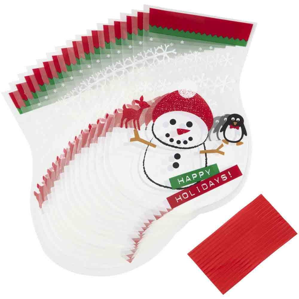 Snowman Round Treat Bags