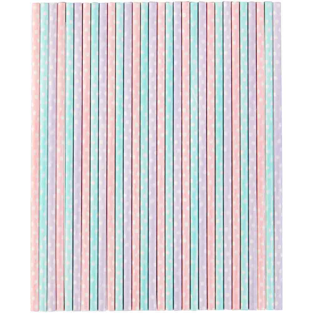 Pastel Dot Sucker Sticks
