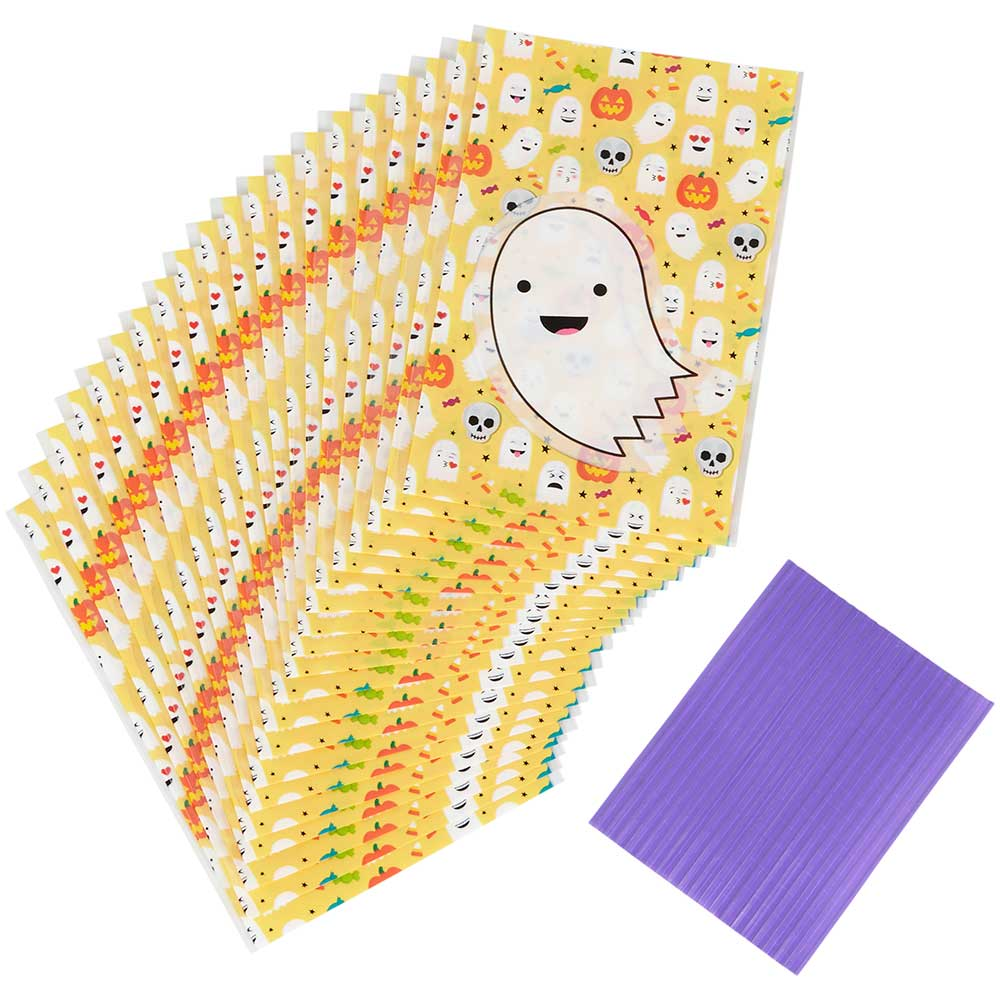 Emoji Ghosts Treat Bags