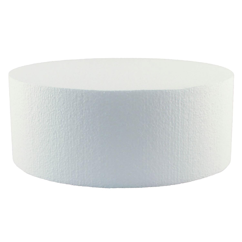 """9"""" x 4"""" Round Styrofoam Cake Dummy"""