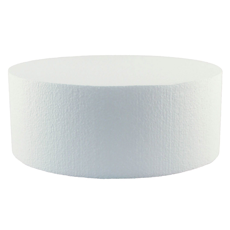 """10"""" x 4"""" Round Styrofoam Cake Dummy"""