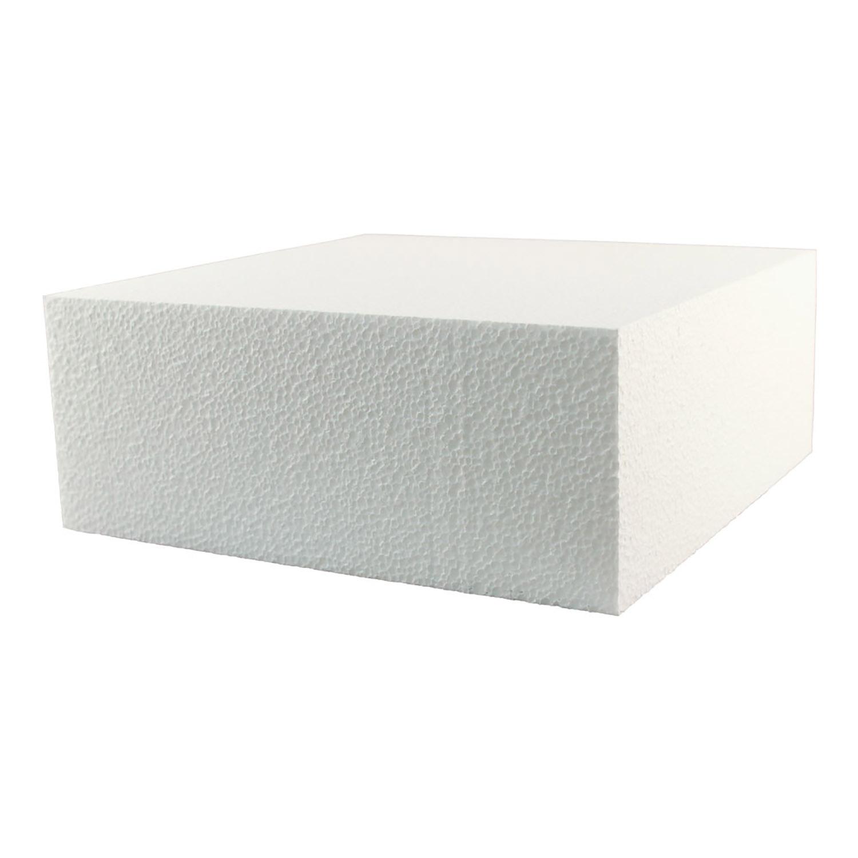 """12"""" x 4"""" Square Styrofoam Cake Dummy"""