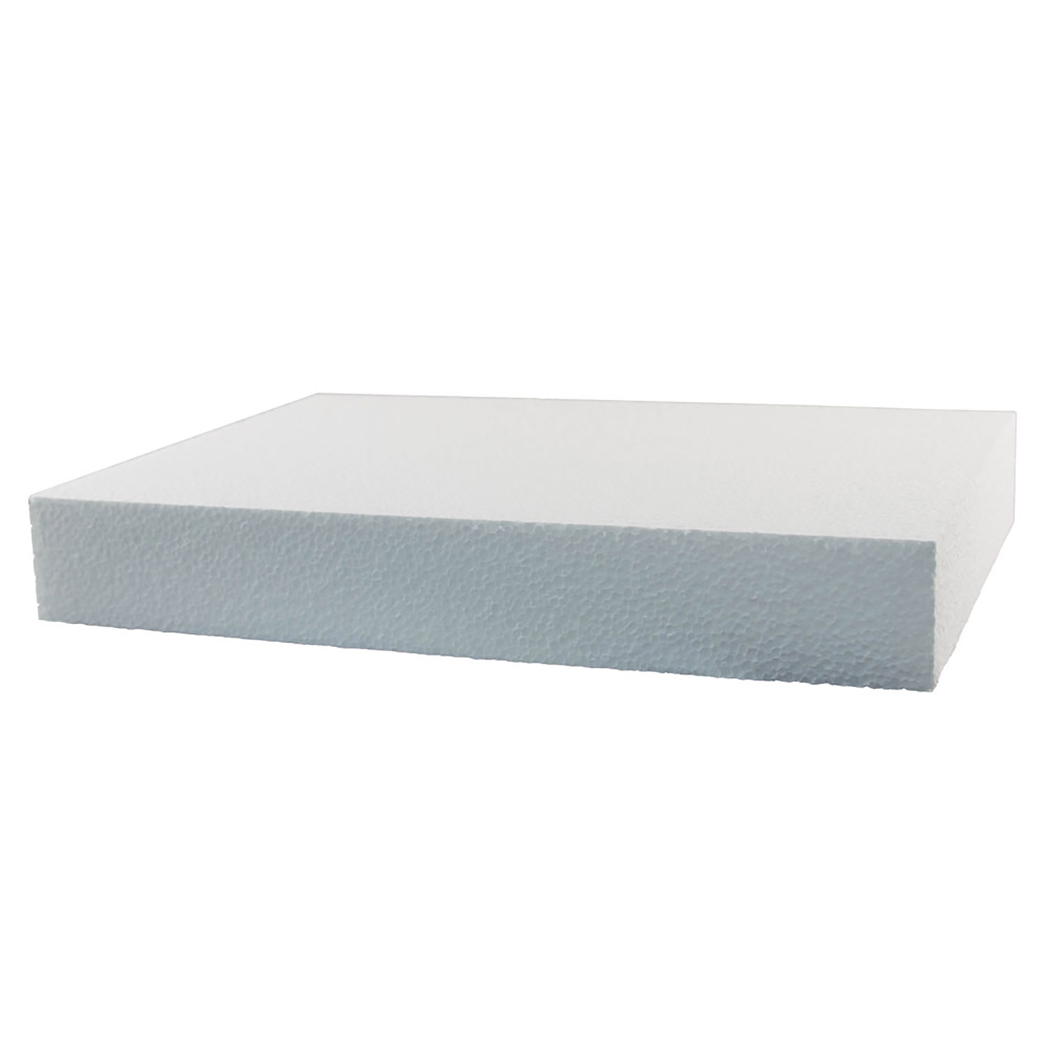 "13"" x 9"" x 2"" Rectangular Styrofoam Quarter Sheet Cake Dummy"