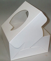 "10"" x 10"" x 5"" Cake Boxes With Window"