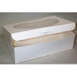 "14"" x 10"" x 4"" Quarter Sheet Cake Boxes With Window"