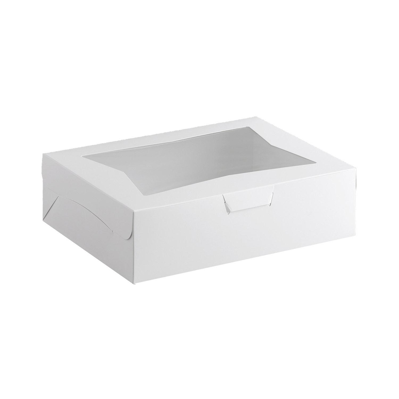 "14"" x 10"" x 4"" Quarter Sheet Cake Window Boxes"