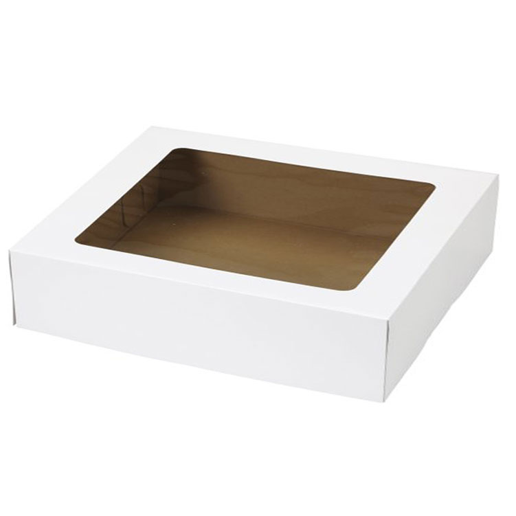 "20"" x 14"" x 4"" Half Sheet Cake Boxes With Window"