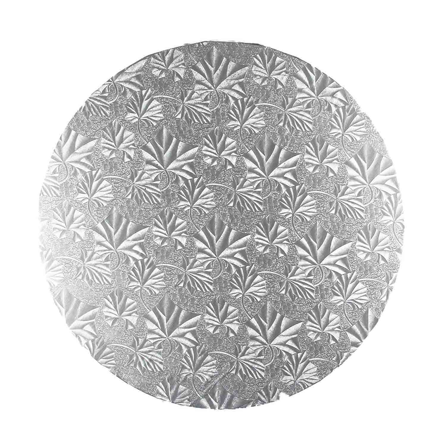 "14"" Round Silver Foil Cake Drum"