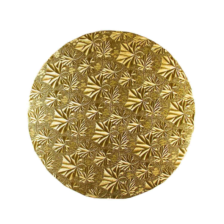 """8"""" Round Gold Foil Cake Drum"""