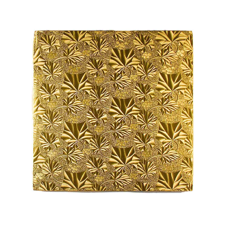 "12"" Square Gold Foil Cake Drum"