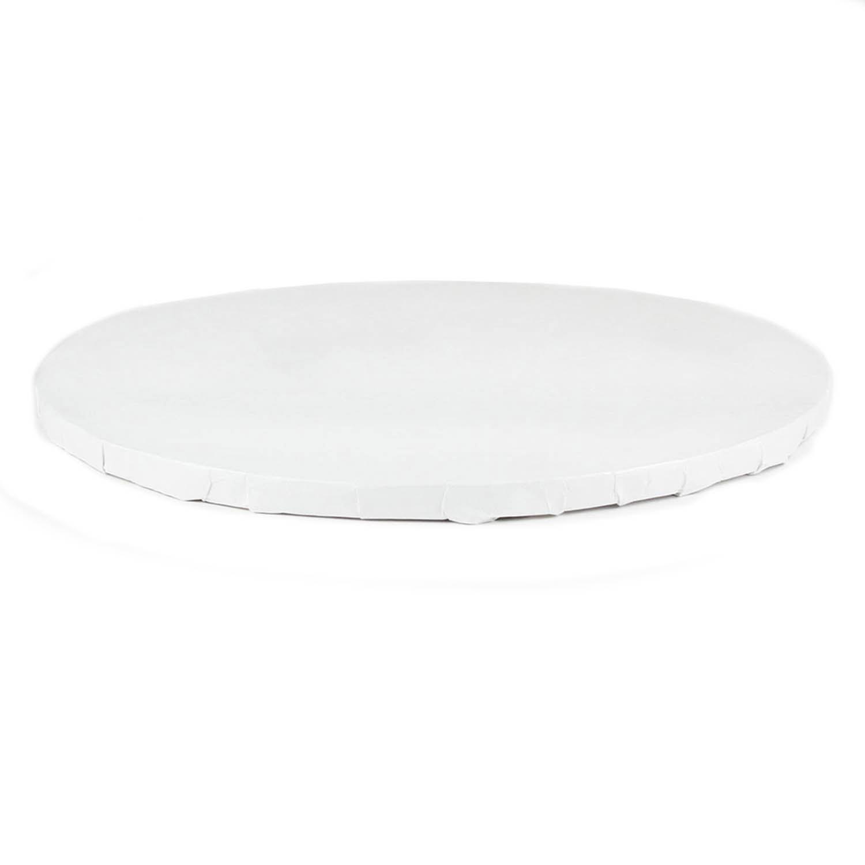 "16"" Round White Foil Cake Drum"