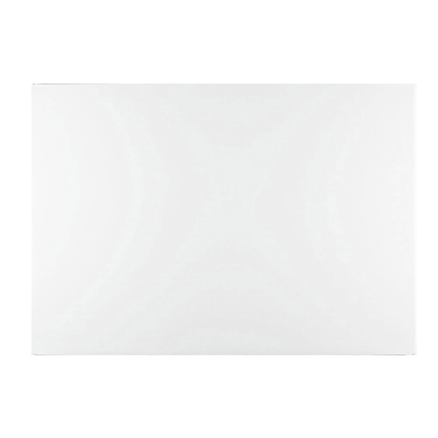 "10"" x 14"" Rectangle White Foil Quarter Sheet Cake Drum"