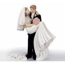 Threshold of Happiness Wedding Cake Topper