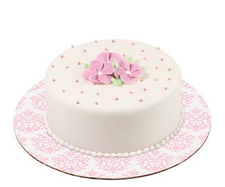 """12"""" Pink Damask Cake Cardboards"""