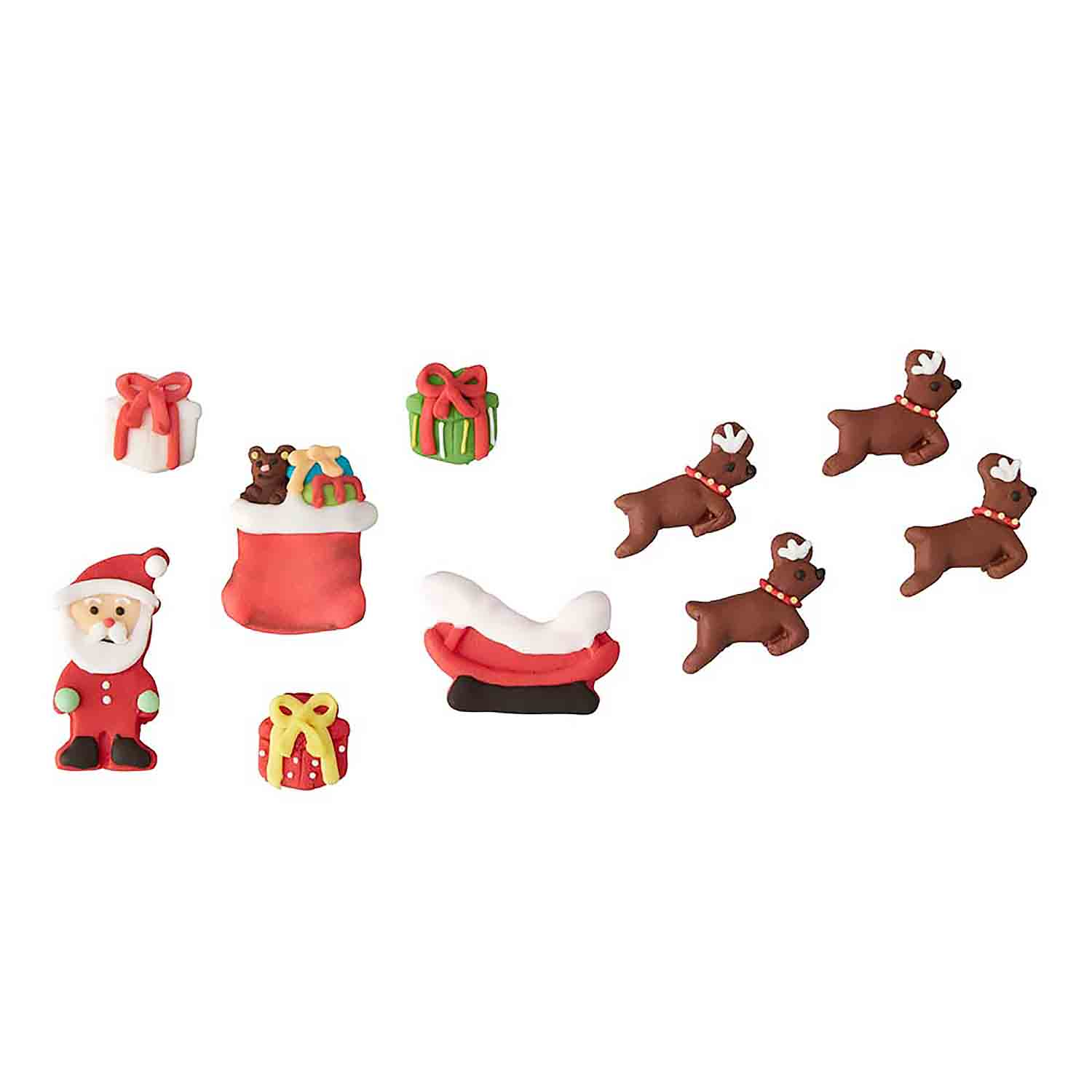 Santa Scene Royal Icing Decorations