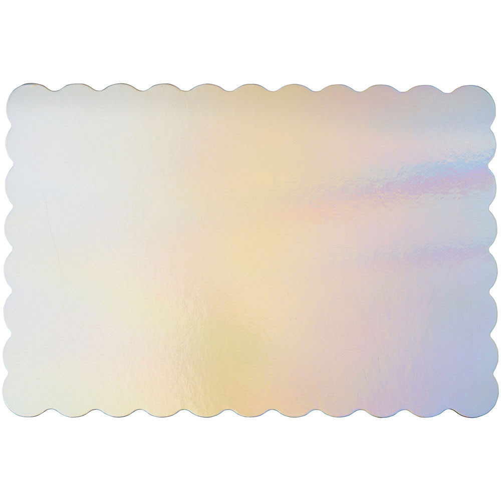 "13"" x 19"" Iridescent Half Sheet Cake Cardboards"