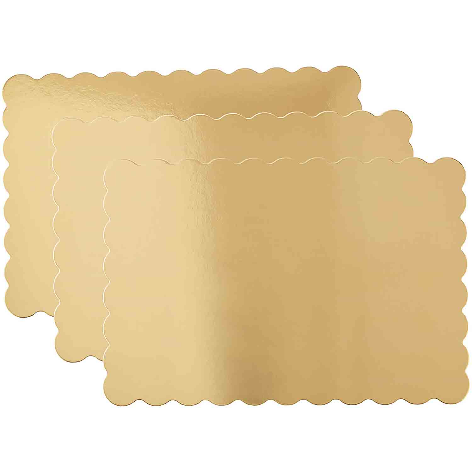 "13"" x 19"" Gold Half Sheet Cake Cardboards"