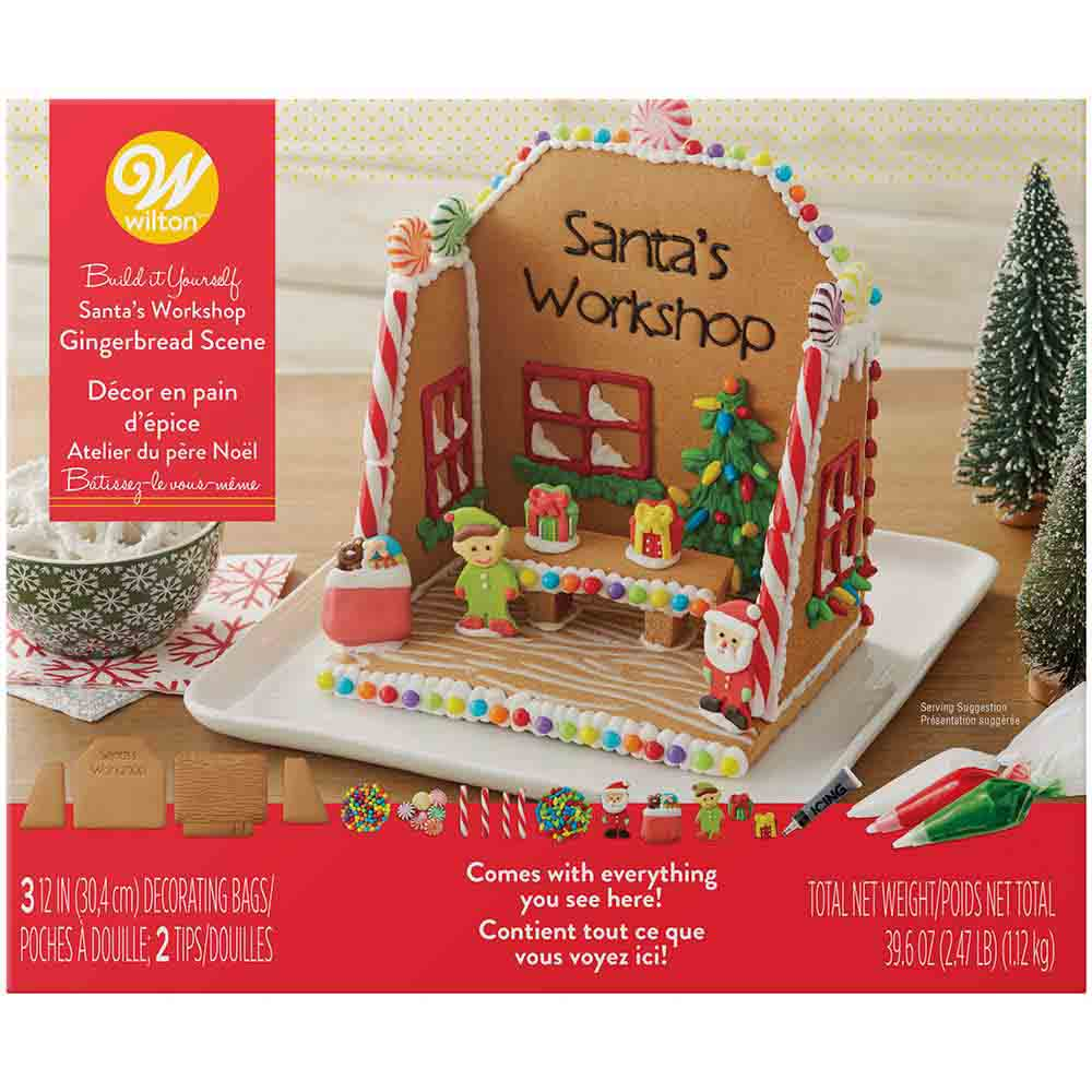 Santa's Workshop Gingerbread Kit