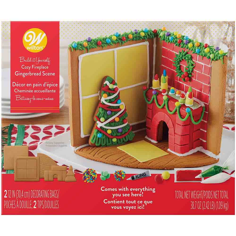 Cozy Fireplace Gingerbread Kit