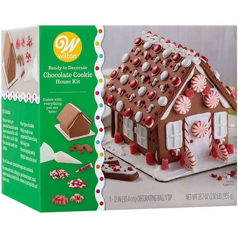 Ready to Decorate Chocolate Cookie House Kit