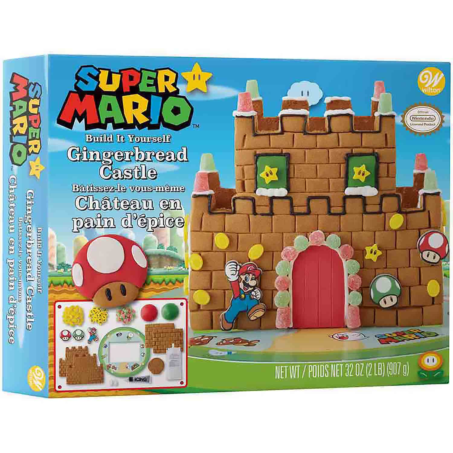 Super Mario Gingerbread Castle Kit