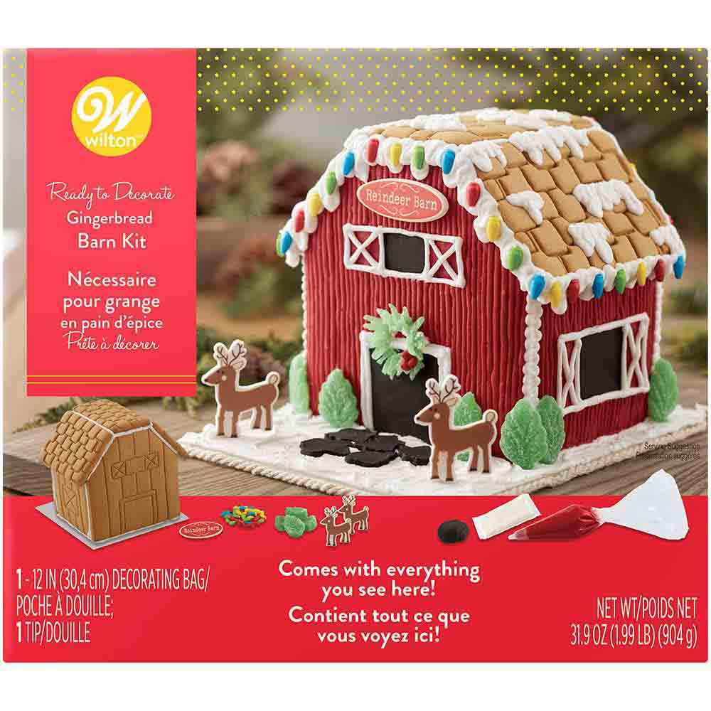 Barn Gingerbread House Kit