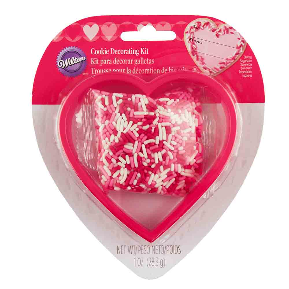 Heart Cookie Cutter and Sprinkle Kit