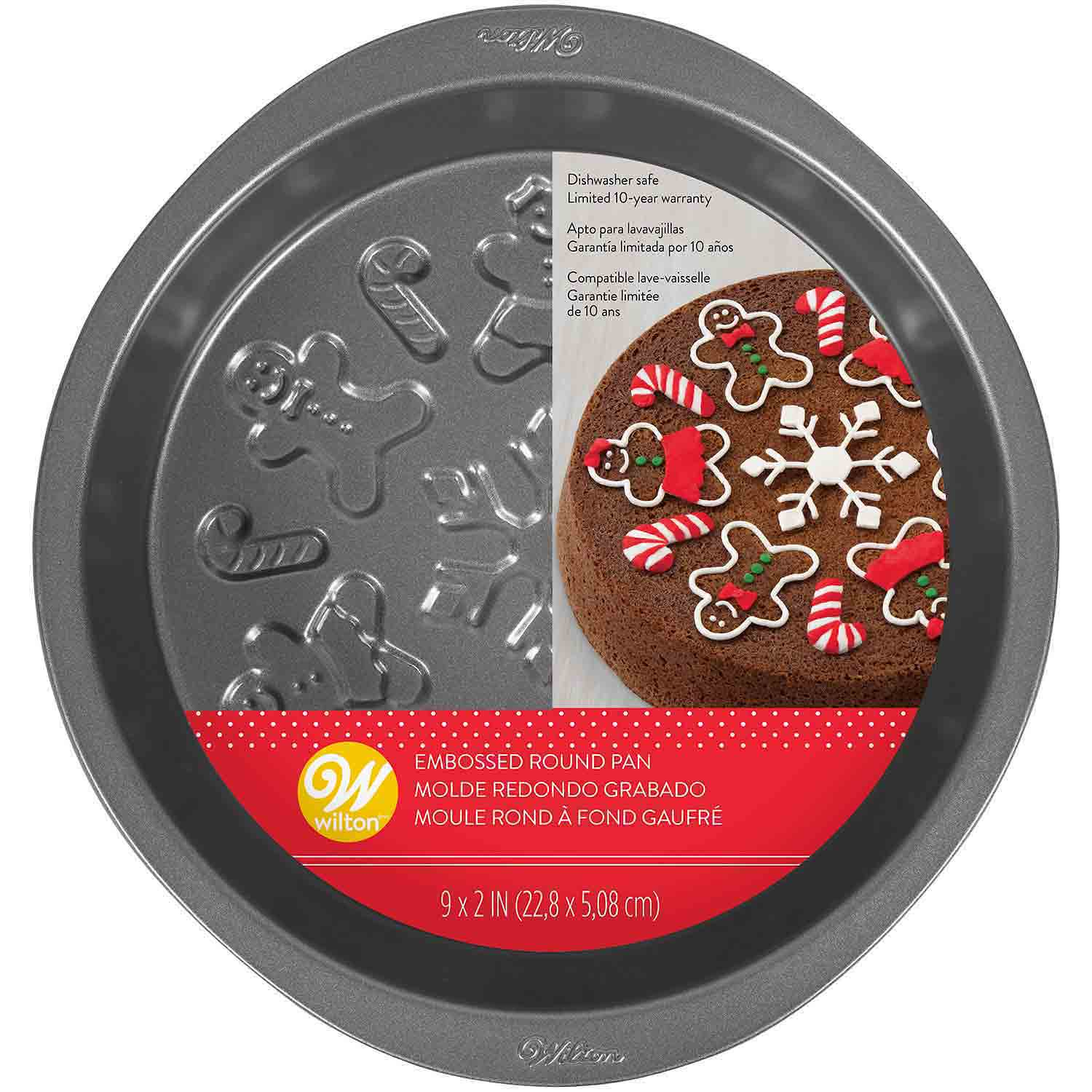 Christmas Embossed Cake Pan