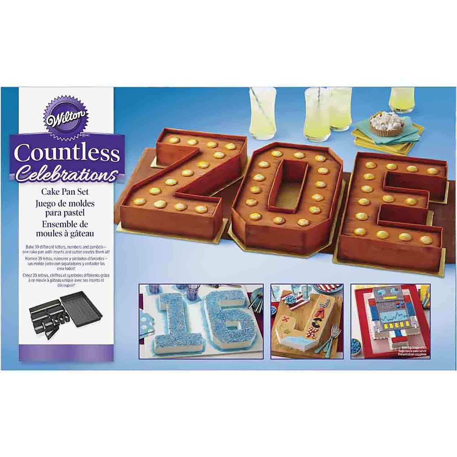 Numbers and Letters Cake Pan Set