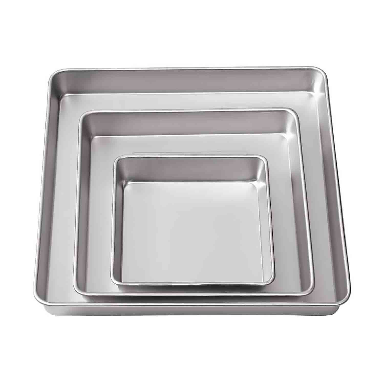 3 Tier Square Cake Pan Set