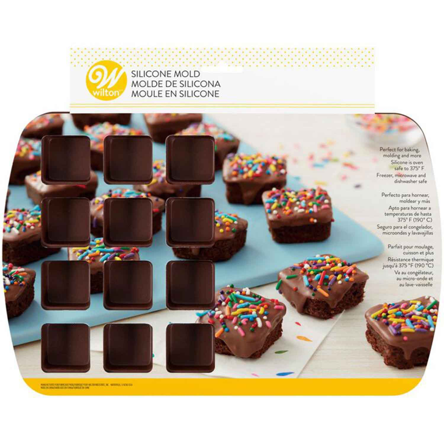 Silicone Bite Size Brownie Square Pan