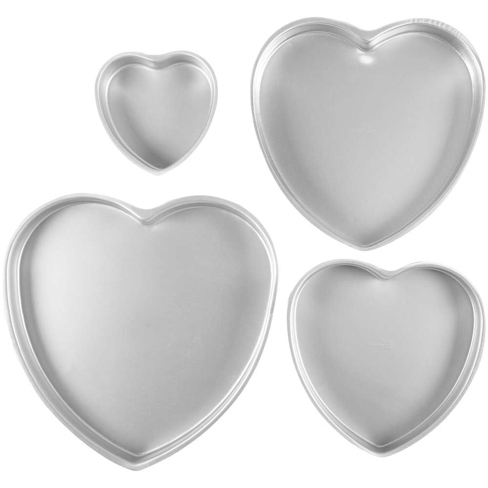 4 Pc. Heart Cake Pan Set