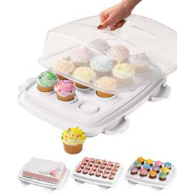 Cupcake/Sheetcake Carrier (Ultimate 3 in 1 caddy)