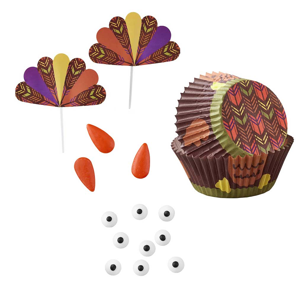 Turkey Cupcake Decorating Kit