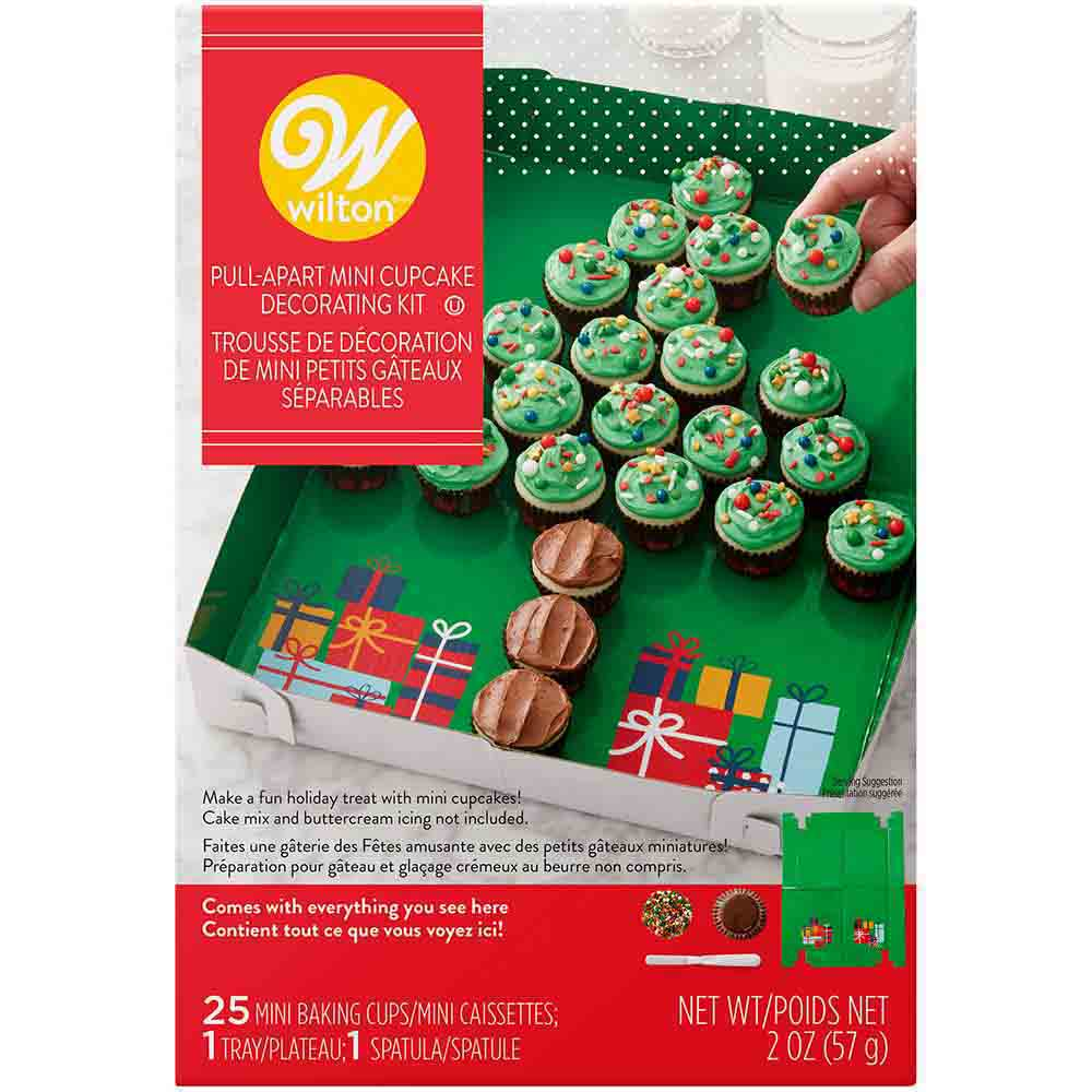 Christmas Tree Pull-Apart Mini Cupcake Decorating Kit