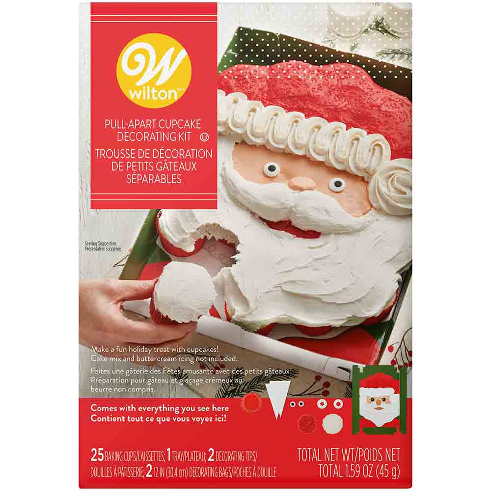 Santa Pull-Apart Cupcake Decorating Kit