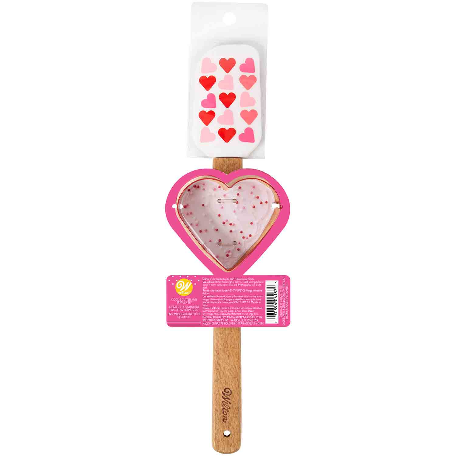 Valentine Heart Spatula and Cutter Set