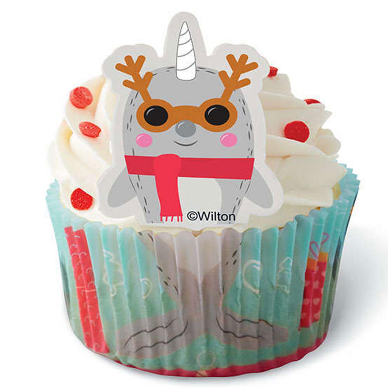 Holiday Narwhal Cupcake Decorating Kit